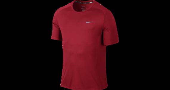 Nike Dri-FIT Miler hardloopshirt Heren rood